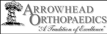 Arrowhead Ortho logo bw2